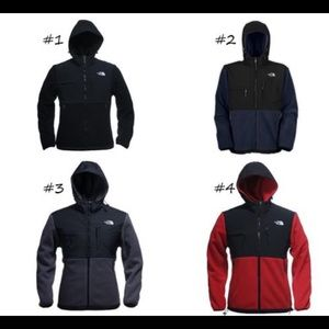 Men's north face jackets.